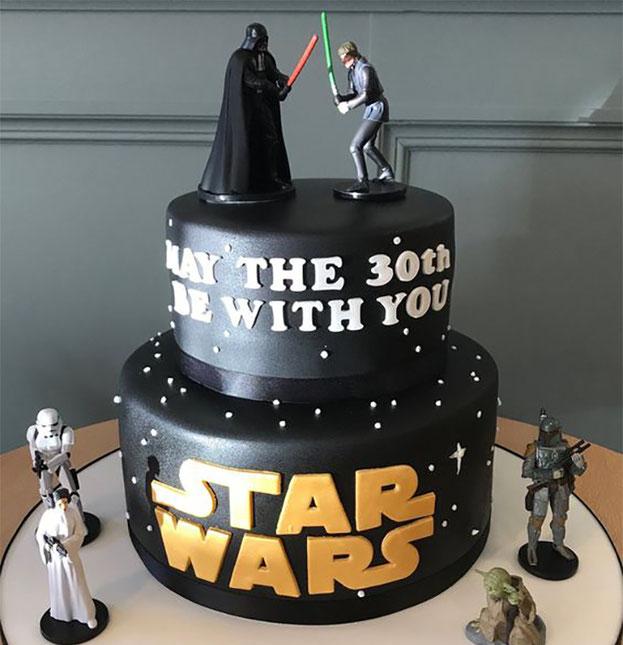pastel de star wars para hombre
