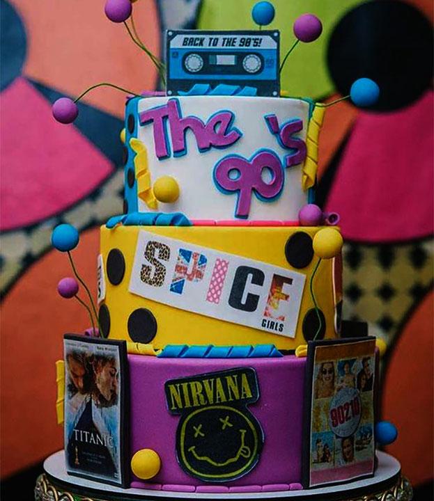 decoracion fiesta de los 90s