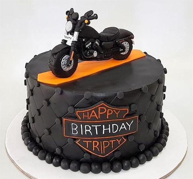 torta de motocicleta para hombre