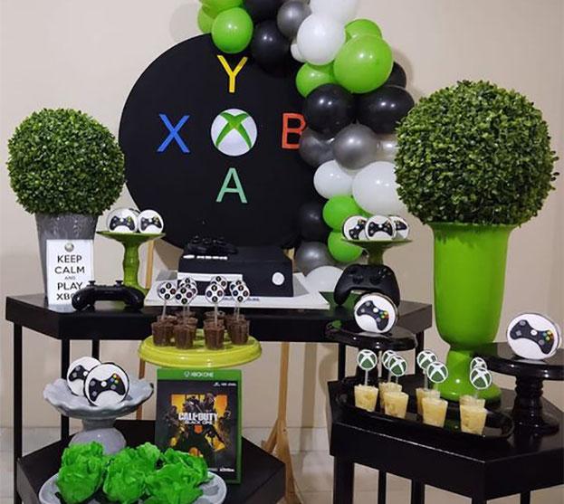 decoracion fiesta de xbox