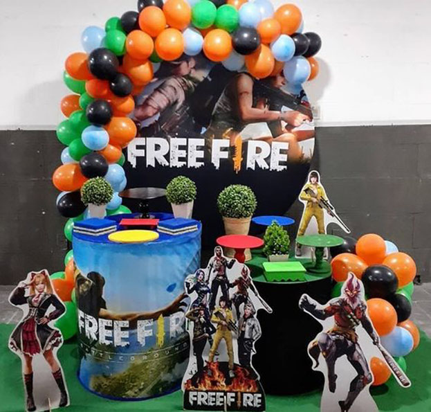 decoracion fiesta tematica de free fire