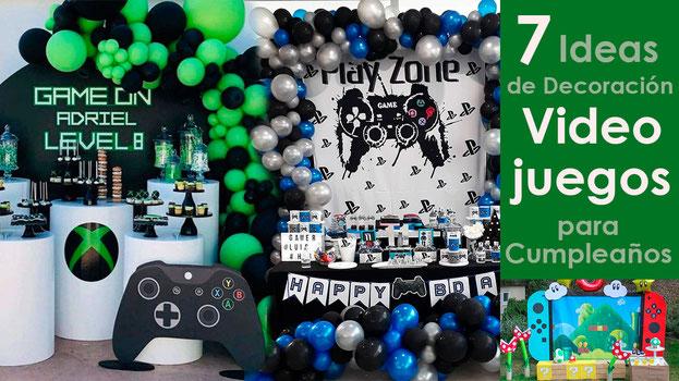 ideas de decoracion cumpleaños de videojuegos