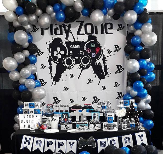 decoracion cumpleaños de gamer