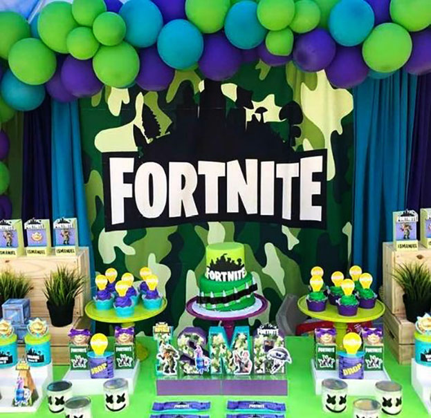 decoracion cumpleaños de fortnite