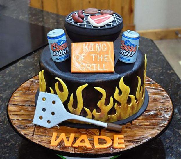 torta de parilla de hombre