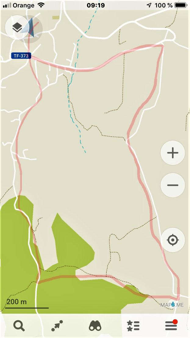 Der Weg zur Fuente La Vega, Casa Madera, Wanderwege