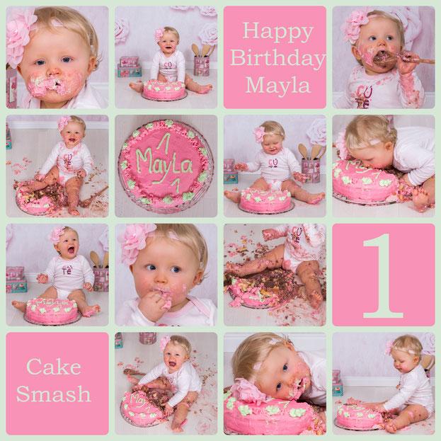 Cake Smash, Mayla, 11 Monate alt