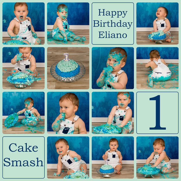 Cake Smash, Eliano, 12 Monate alt