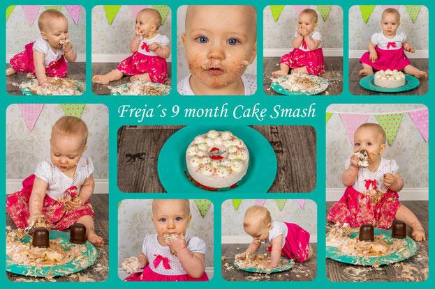 Cake and Chocolate Kiss Smash, Freja, 9 Monate alt