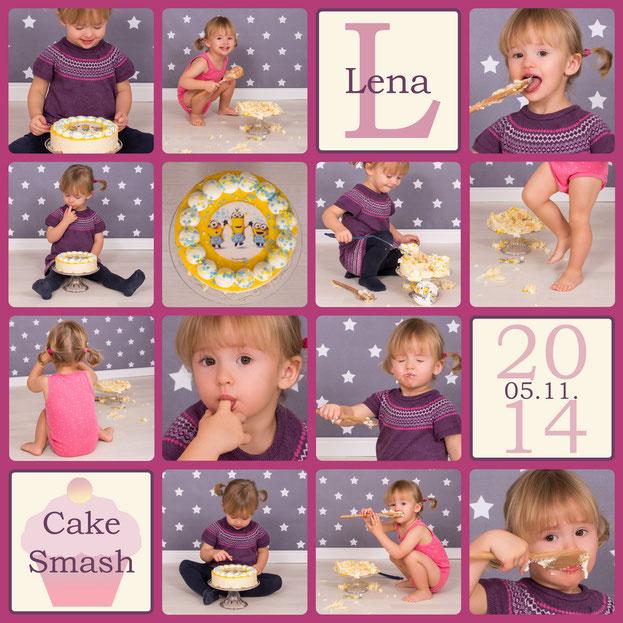 Cake Smash, Lena, 24 Monate alt