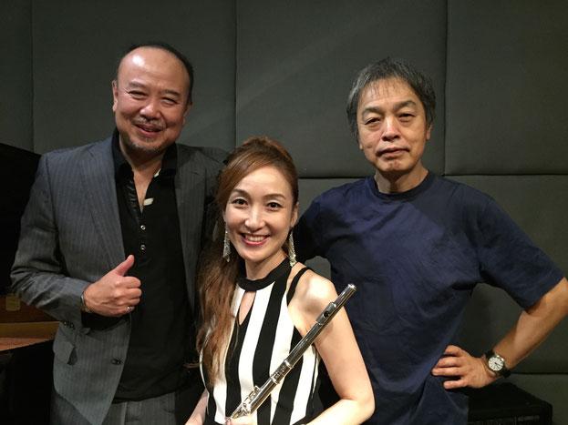 田中裕士さん(P)KOKORO(Fl)宮野弘紀さん(G)