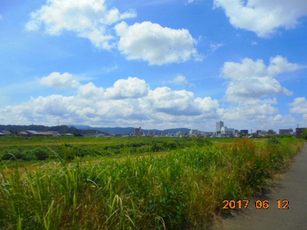 こっちは福井です、美味しいパン屋さん行く途中ですがいい天気で素敵な青空でした。