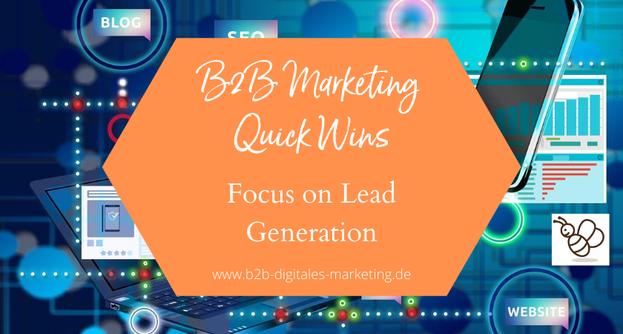 Quick Wins Digital Marketing in B2B