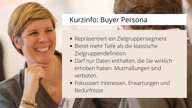 Kurzinfo Buyer Persona Definition und Kriterien