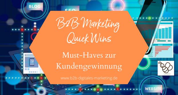 Schnelle Erfolge im digitalen Marketing B2B