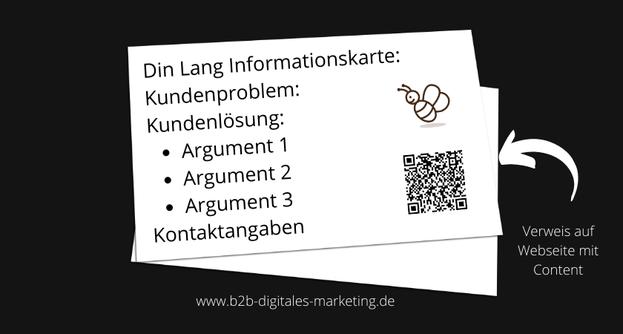 Beispiel Printmaterial/ Flyer in Kombination mit online Content