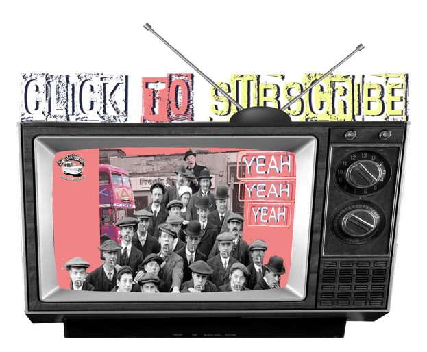 graphic of vintage tv with the words 'click to subscribe'