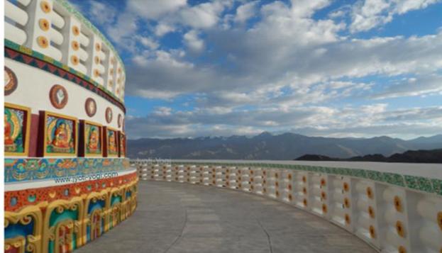 Jyoti-yogi, yoga, spiritalité, Leh, Ladakh, stupa, Shanti Stupa