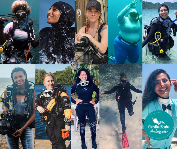 A huge thank you to our ambassadors for representing Girls that Scuba this year!