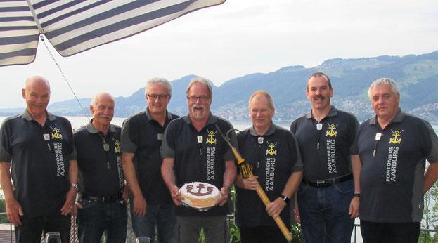 Kurt Hildebrand, Roland Wullschleger, Dieter Schaub, Werner Eichenberger, Bernhard Wullschleger, Jörg Graf und Jörg Schaub