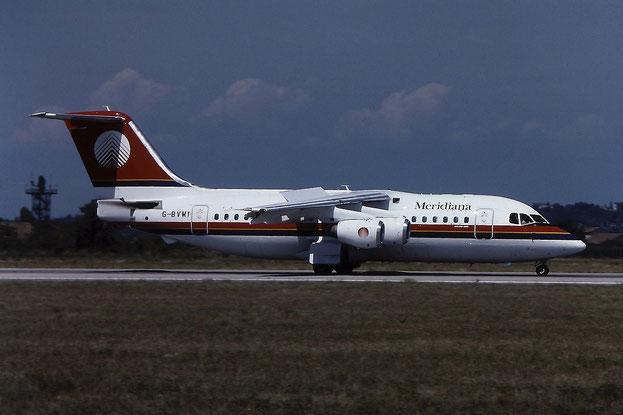 G-BVMT BAe146-200 E2220 Trident Jet (Jersey) Ltd (Meridiana) @ Aeroporto di Verona - © Piti Spotter Club Verona