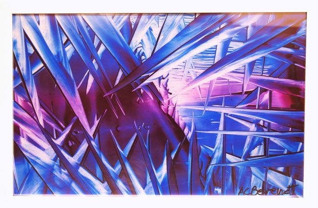 La vie en bleu - Giclee Print from Original Wax Painting - by Anne Berendt