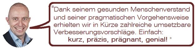 Statement von Bernhard Danz, Geschäftsleitung Egli AG Dienstleistungen, 2504 Biel