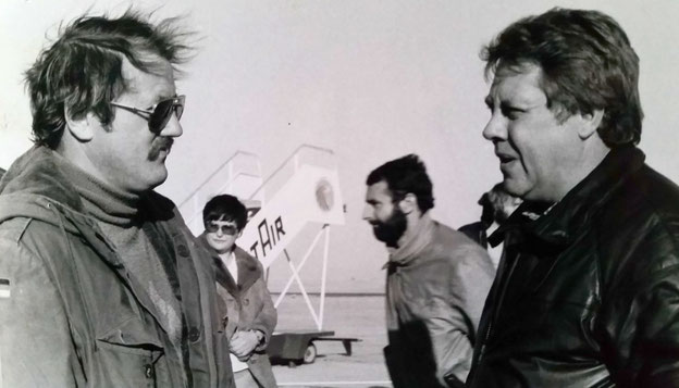 1979 mit Rudi Kneip in Hurghada