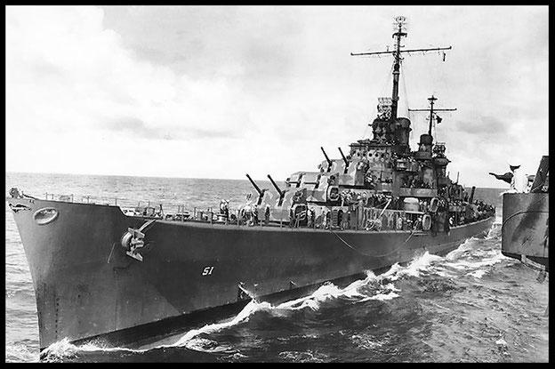 Aufnahme der USS Atlanta (vermutl. Oktober 1942). Foto: NAVY, Public Domain / http://commons.wikimedia.org