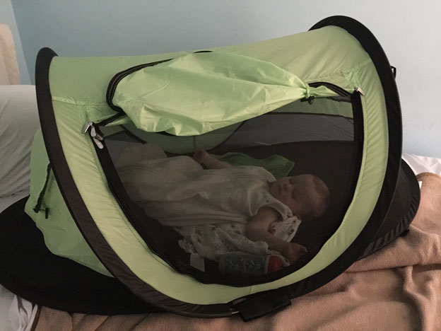 PeaPod Plus Travel Tent for Baby Sleep While on a Family Vacation in Italy
