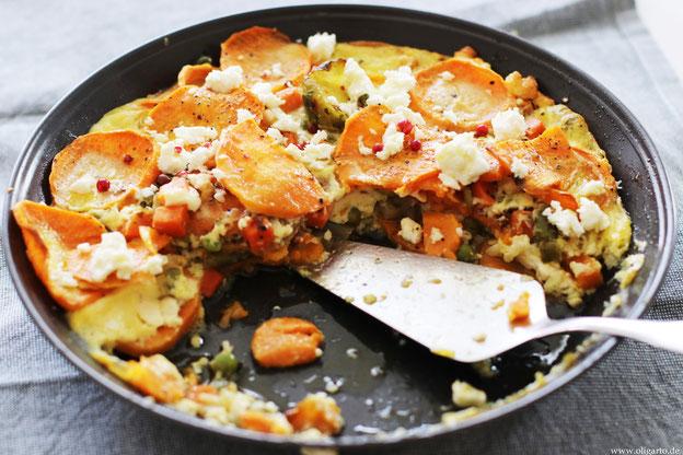 Süßkaroffel-Auflauf mit Fetakäse und Gemüse Oligarto Rezepte direct&friendly