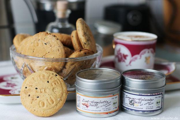 Hausgemachte Kekse mit nativem OLivenöl extra gebacken