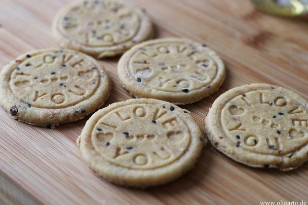 Kekse ohne Zucker und MIlch Oligarto mit nativem Olivenöl extra gebacken