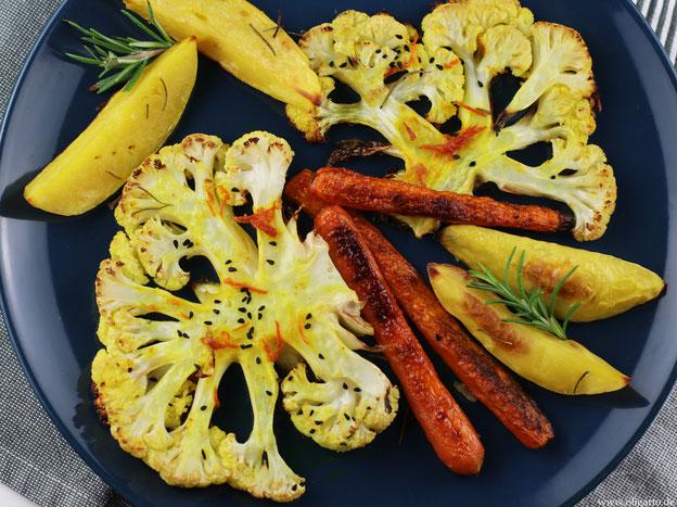 Gemüse aus dem Backofen Oligarto Rezepte Olivenöl Blogzine