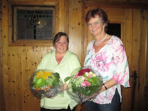Von links: Irmgard Wößner und Bettina Pflumm 2016