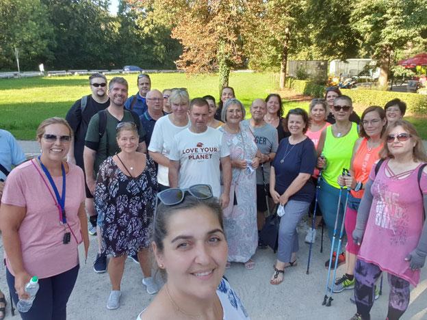 Einige Teilnehmer der Adipositas Selbsthilfegruppe München Altperlach
