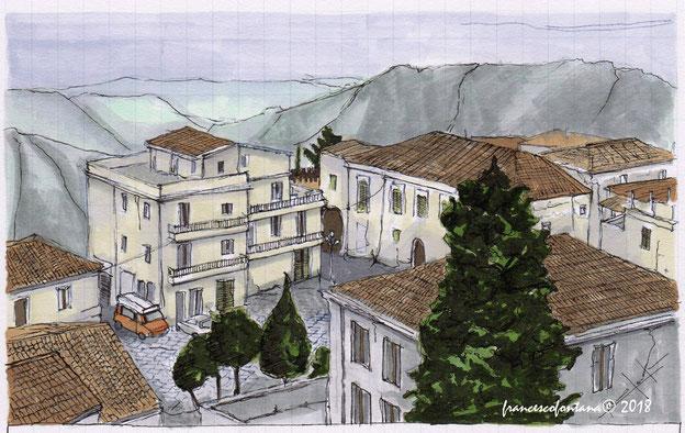 Vista su Bova e sul territorio grecanico