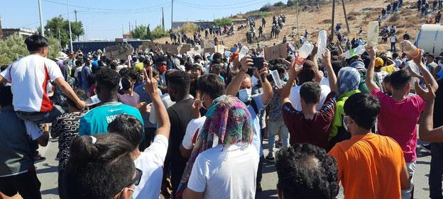 Proteste nach dem Brand