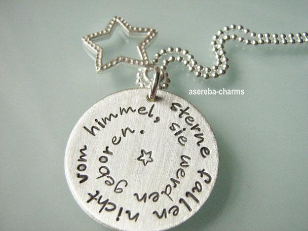 Sterlingsilberkette als Geschenk für die Mami zur Geburt (mit Name des Kindes, Geburtstag, Uhrzeit, Gewicht und Größe)