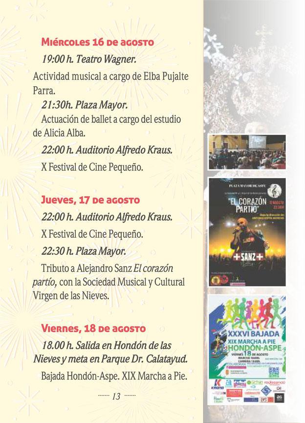Programa de las Fiestas de Aspe 2015 Moros y Cristianos