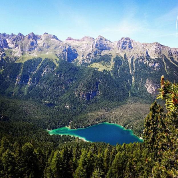 Il Lago di Tovel dal Passo Termoncello