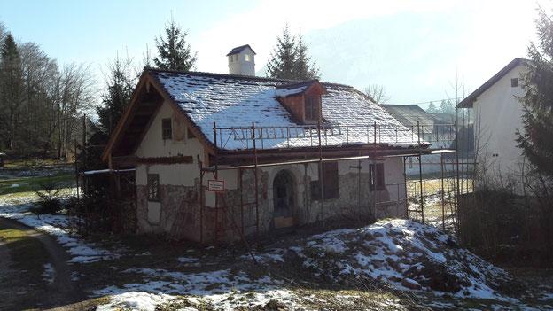 Haus F. - die ehemalige Mühle wird Wohnnutzung zugeführt. Umfassend bauphysikalische Überlegungen sind notwendig. Zusätzlich werden die Hinterlüftungsebenen messtechnisch überwacht, um optimale Betriebsbedingungen ableiten zu können