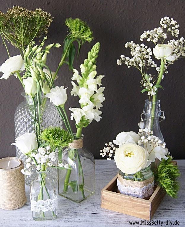 Blumen Deko Im Vintage Stil Selber Machen Für Hochzeit Als