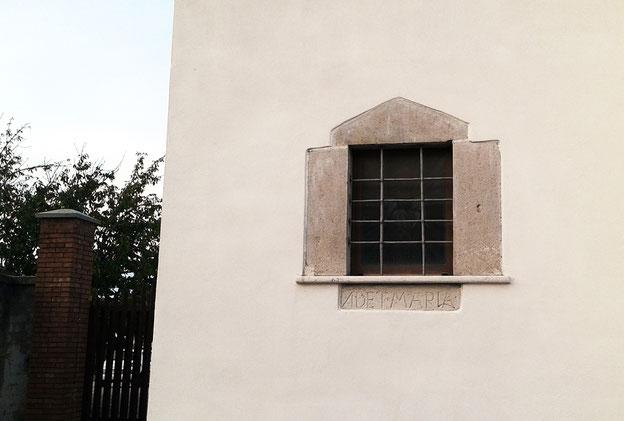 """Larino Convento dei Capuuccini iscrizione monca """"NDET MARIA"""""""