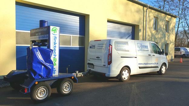 Mobile Reifenpresse - Staplerreifen Montage vor Ort