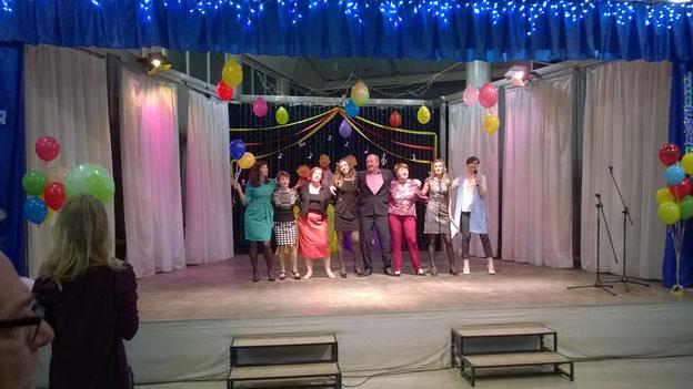 Alle machten bei der Jahrfeier mit Auftritten mit.