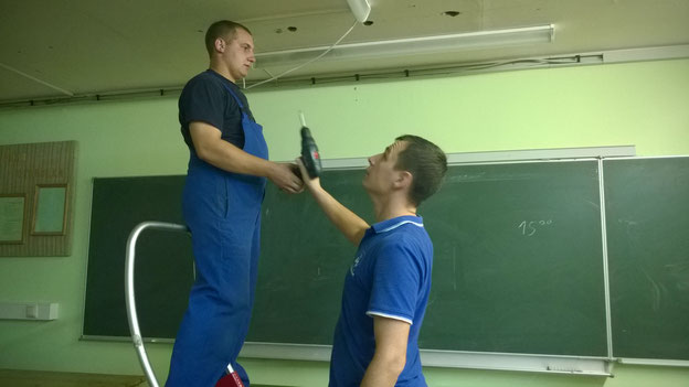 Fjodor und Pawel haben ohne Sprachprobleme super mit uns zusammen gearbeitet.
