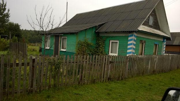 Ein typisches weissrussisches Holzhaus.