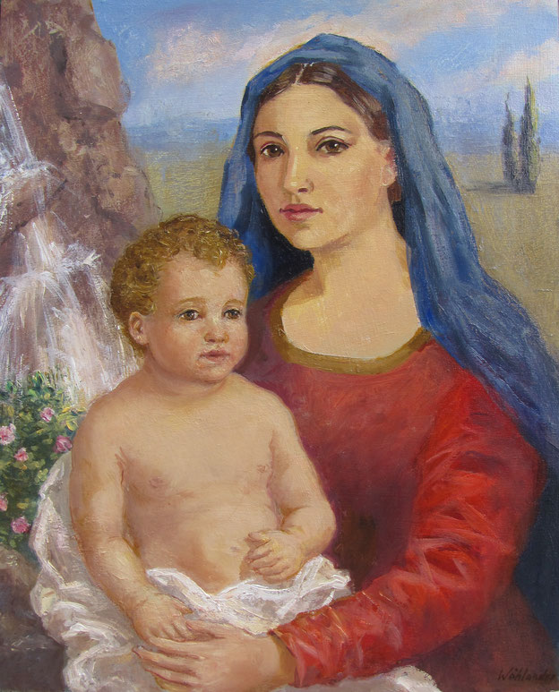 Tony Wahlander, La vierge et l'enfant.