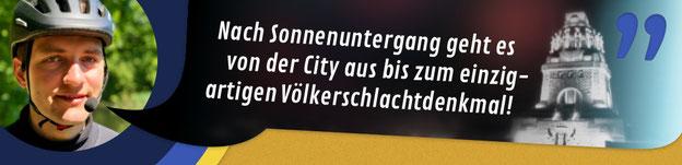 """Titelbild Nacht-Tour auf dem Segway in Leipzig: """"Nach Sonnenuntergang geht es von der City bis zum einzigartigen Völkerschlachtdenkmal!"""""""